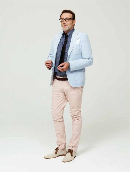 蓝色条纹西装:Man版