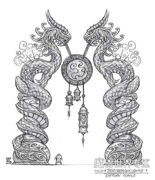 纯正中国风 魔兽世界熊猫人精美原画合集