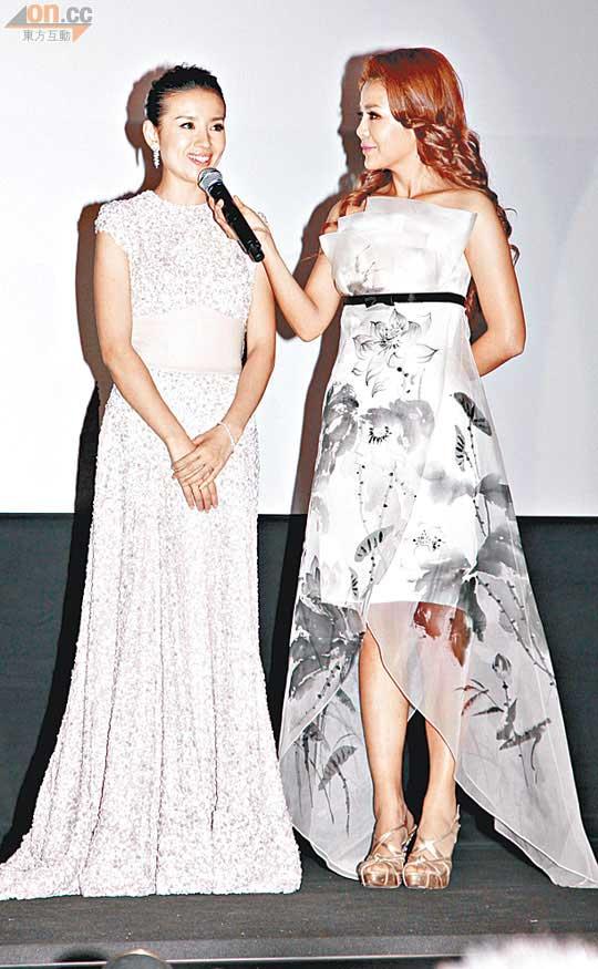 董洁(左)已经是第三次参加东京电影节。