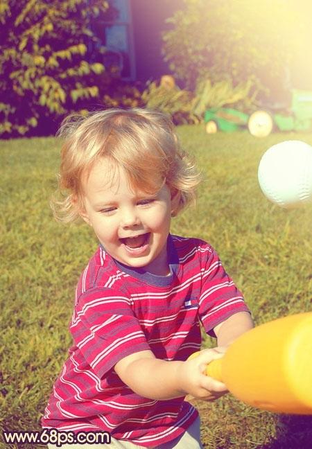 photoshop给儿童照片加上柔和阳光色