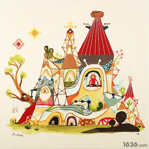 充满神秘色彩的童话世界by插画师souther salaza(组图图片