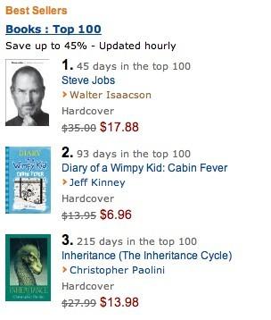 乔布斯传记或将成为亚马逊今年最畅销图书