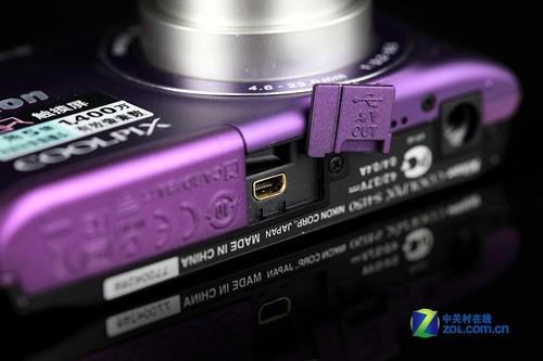 图为:尼康S4150数据接口