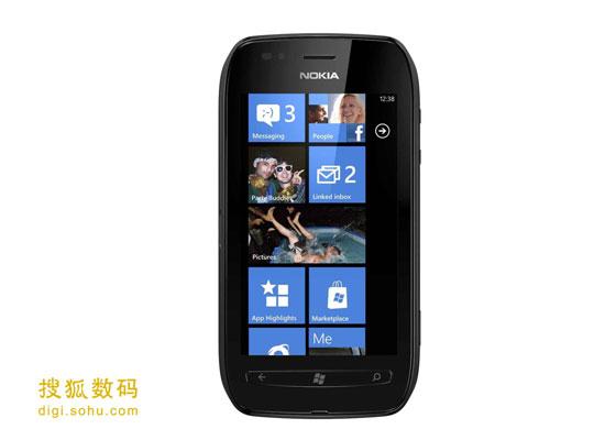 图为诺基亚Lumia 710