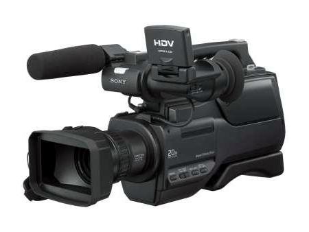 图为:索尼数码摄像机HD1000C