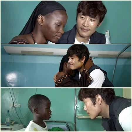 通过李秉宪的帮助失明的两个孩子终于可以重见天日