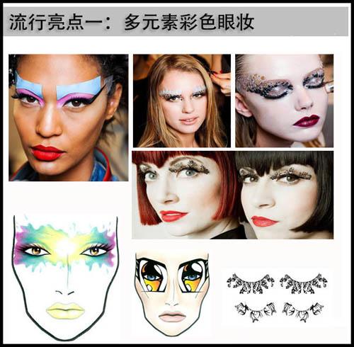多元素彩色眼妆