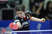 图文:女乒世界杯首日图集 福原爱在比赛中