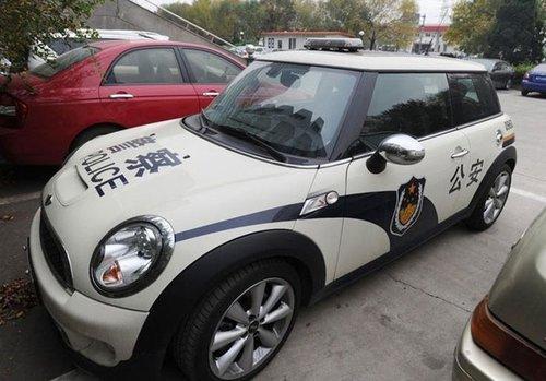 牌照为津a5345警的宝马mini警车 资料图