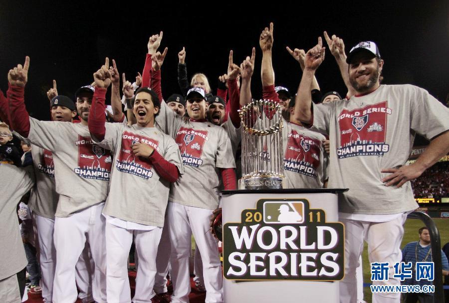 美国职棒大联盟:圣路易斯红雀队夺总冠军[组图]