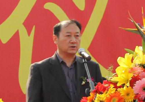杭州市政府副秘书长赵立康在启动仪式上做重要致词