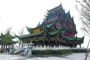 本月19日,园博园重云塔将开放。 重庆晨报记者 许恢毅 摄