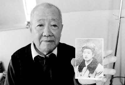 正面老人照片_张明堂老人与他当年的照片