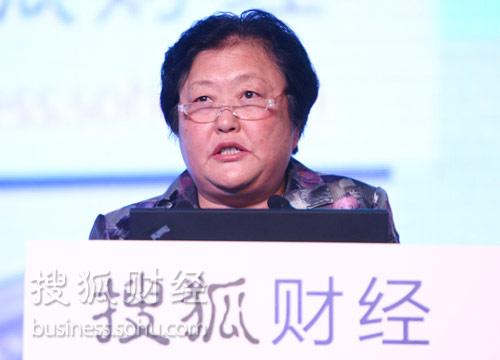 中国红十字会常务副会长赵白鸽。(来源:搜狐财经)