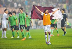 卡塔尔人欢庆的背后,是韩国人落寞的身影。