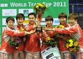 图文:[乒乓球]男团登顶世界杯 女团颁奖仪式