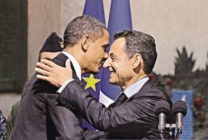 """在G20峰会期间,萨科齐与奥巴马会面,被评互戴""""高帽"""",却在金融危机面前作为不大"""