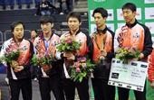 图文:[乒乓球]男团登顶世界杯 韩国男团获亚军