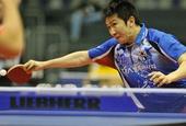 图文:[乒乓球]男团登顶世界杯 柳承敏奋力回球