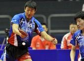 图文:[乒乓球]男团登顶世界杯 韩国男双组合