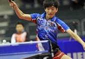 图文:[乒乓球]男团登顶世界杯 金民石在比赛中
