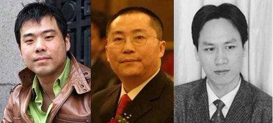 (应邀参加2011中银财富论坛的专家学者:周金涛(左)、赵晓(中)、戴剑锋(右))