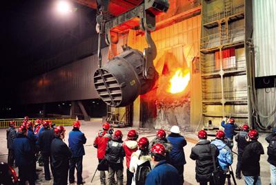 2010年12月19日,众多首钢和首钢职工在媒体第二炼钢厂共同见证最后一145室内设计平图片