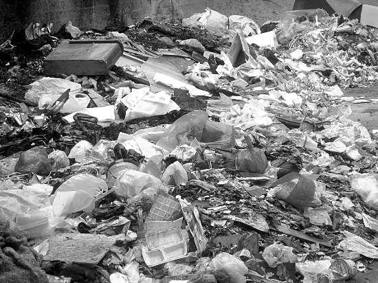 """城乡结合部成堆的垃圾不时可见,成为污染环境的""""杀手"""""""