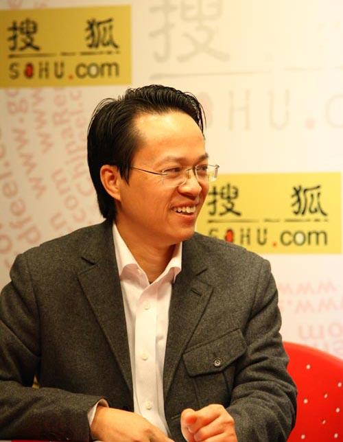 《中国铝业报》副总编周志懿先生应邀来到搜狐传媒会客厅 李鹏/摄影