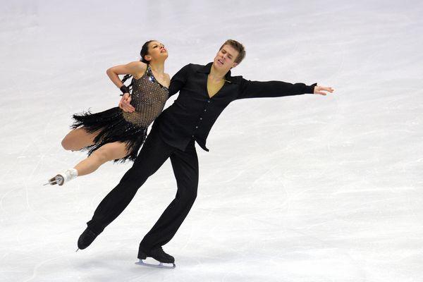 图文:花滑大奖赛冰舞短舞蹈 俄罗斯双人滑
