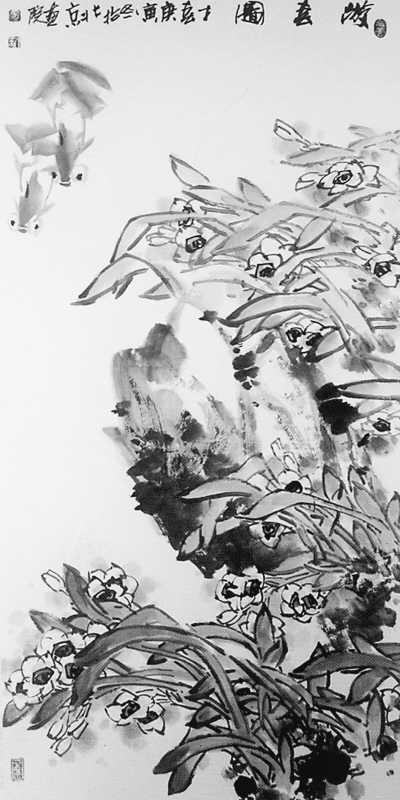 游春图中国画