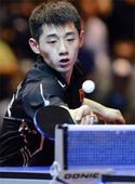 图文:2011男子乒球世界杯 张继科逆转奥恰洛夫