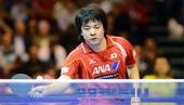 图文:2011男子乒球世界杯 岸川圣也4-3高礼泽