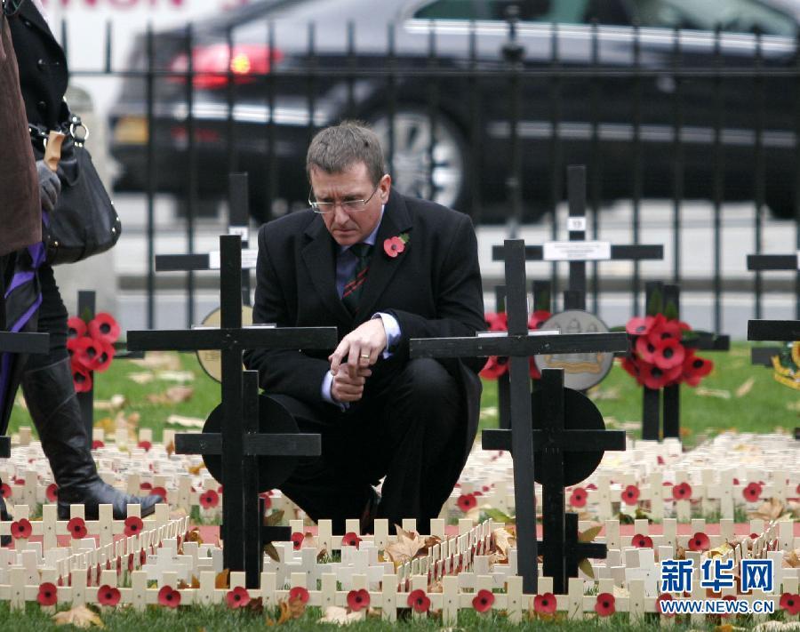 英国纪念第一次世界大战停战日 高清