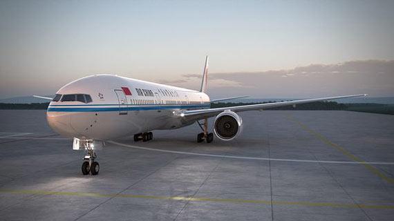 新型飞机囹�a_资料图 中国内地引进的首架波音777新型飞机