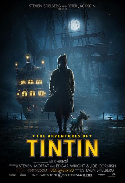 《丁丁历险记》IMAX3D版将映 由斯皮尔伯格执导