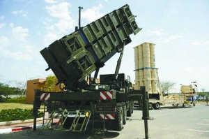 """以色列可用于导弹拦截的""""爱国者""""导弹。"""
