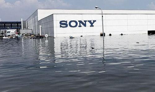 索尼(泰国)工厂受灾(此前报道图片)