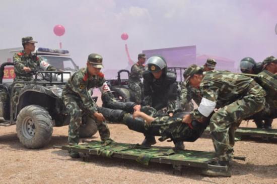 武警8730部队年终考核 实战化图片