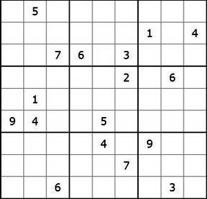 让图中的每一行每一列及每个九宫格里都分别包含有1到9的每一个数.图片