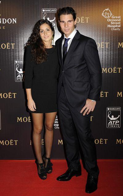 图文:ATP总决赛慈善晚会 纳达尔和女友亮相