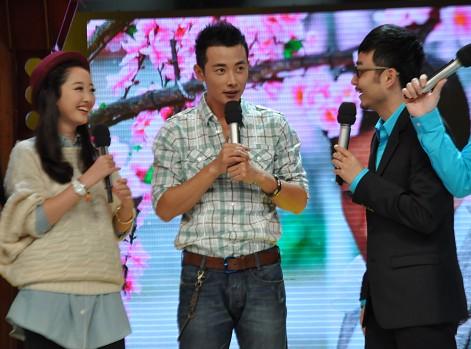 从左至右:蒋梦婕、罗晋、汪涵
