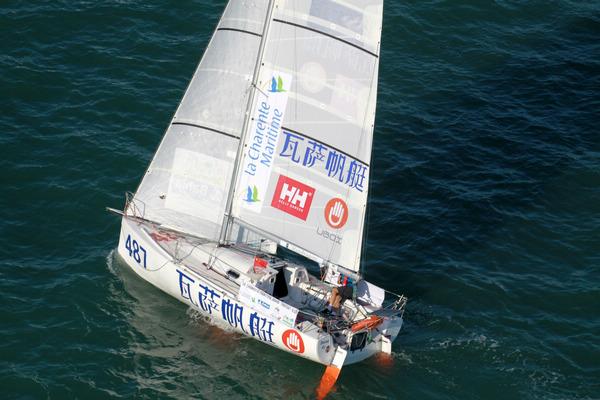 船拒载中国人_郭川驾瓦萨号成功抵达巴西 中国人再创帆船历史