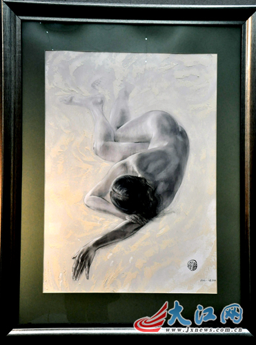 乌克兰女画家莲娜作品展在南昌揭幕