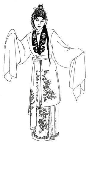 戏曲服装手绘图