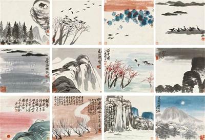 齐白石的《山水册》部分再次验证了名家名画仍旧是市场的重心。