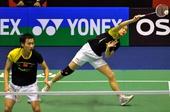 图文:羽毛球香港公开赛赛况 赵芸蕾侧身回球