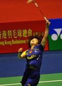 图文:香港羽毛球公开赛赛况 汪鑫后场吊球