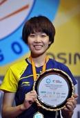 图文:香港羽毛球公开赛赛况 汪鑫笑容满面