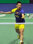 图文:香港羽毛球公开赛赛况 林丹网前回球
